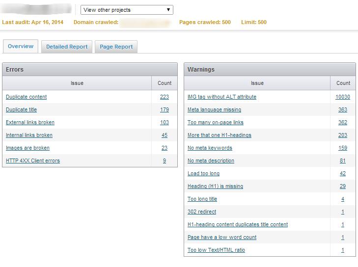 Site Audit Tool - Semrush