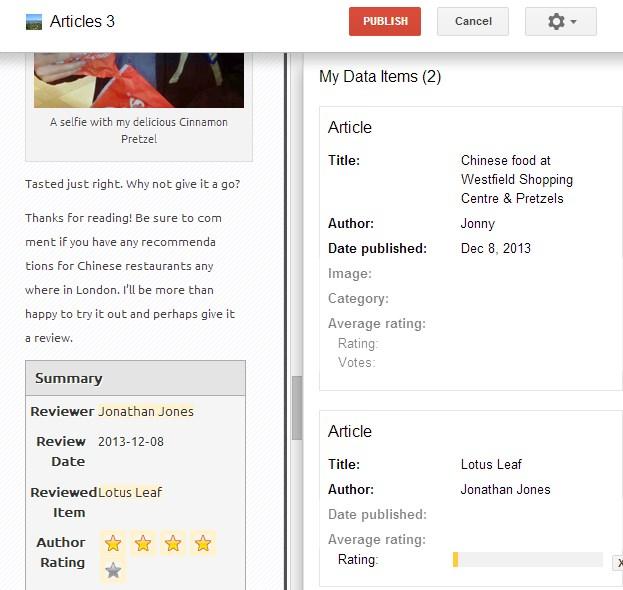 Data-Highlighter - Google Webmaster Tools