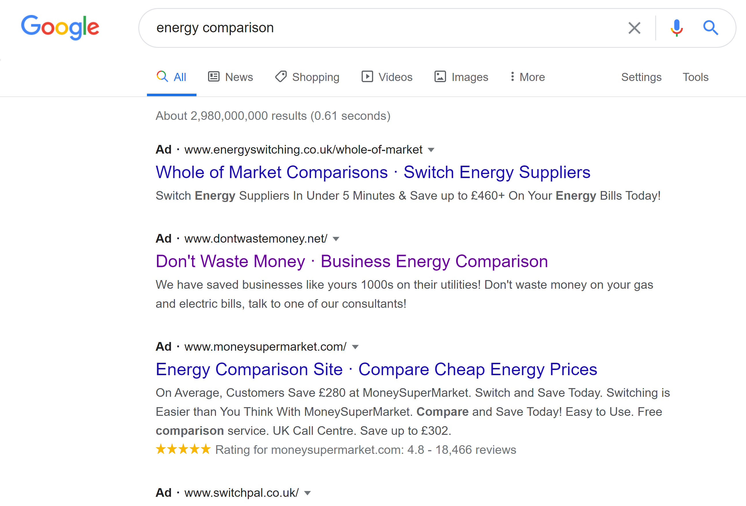 energy comparison Update   What have I been up to?