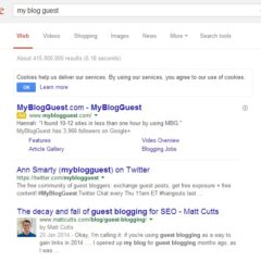 Google Takes Action Against MyBlogGuest